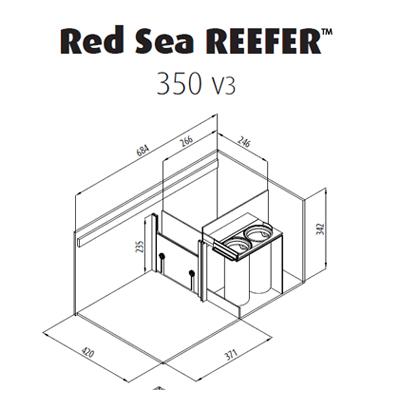 画像4: 【取寄】RedSea REEFER Deluxe350 Black(120cm) フランジ付き