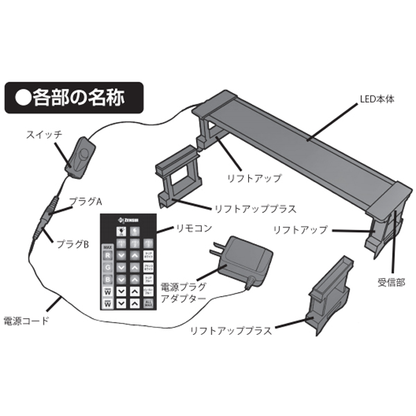 画像1: 【取寄】ゼンスイ MULTI COLOR LED 300用アダプター(24V500mA)
