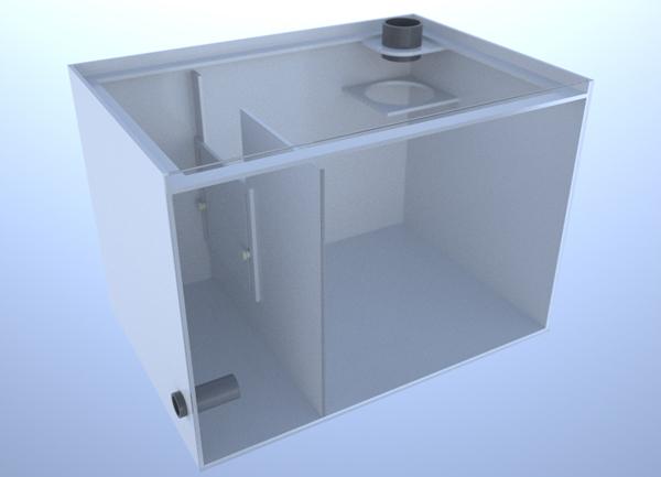 画像1: バリエーションサンプ2層式500 Right Type Basket Slide&Socket