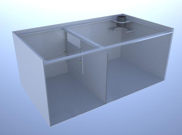 画像1: バリエーションサンプ2層式800 Right Type Basket Slide